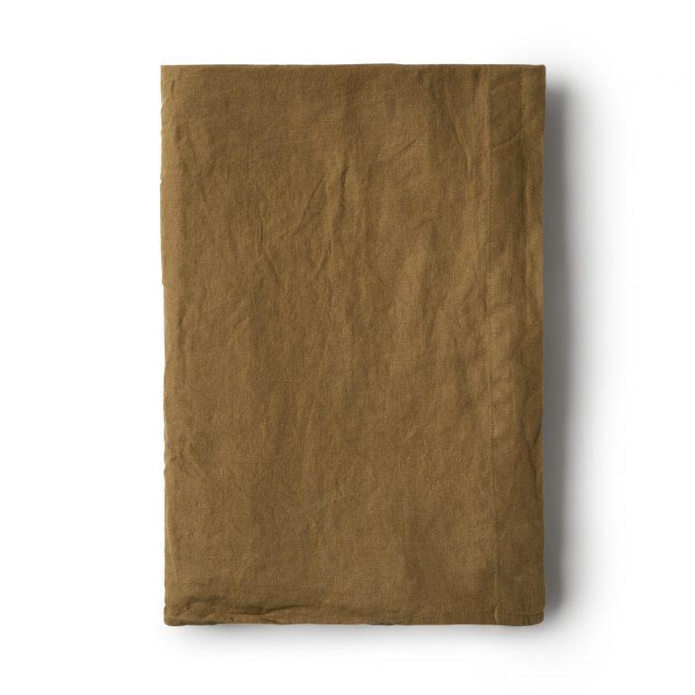 Minimrkt French Flax Linen Flat Sheet Moss