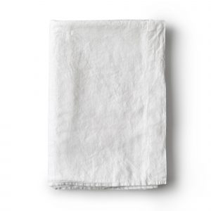 Minimrkt French Flax Linen Flat Sheet White