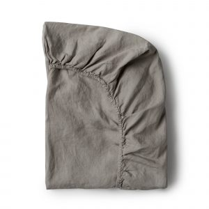 Minimrkt French Flax Linen Fitted Sheet Grey