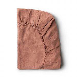 Minimrkt French Flax Linen Fitted Sheet Lotus