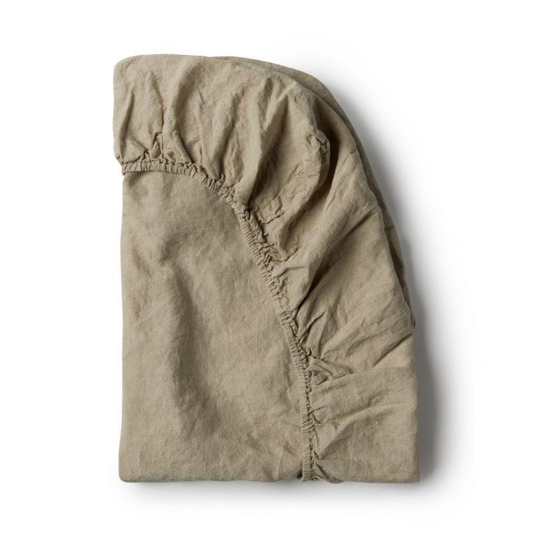 Minimrkt French Flax Linen Fitted Sheet Natural