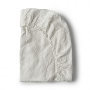 Minimrkt French Flax Linen Fitted Sheet Off White