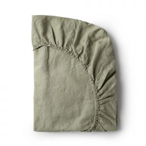 Minimrkt French Flax Linen Fitted Sheet Putty