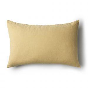 Minimrkt French Flax Linen Standard Pillowcase Butternut