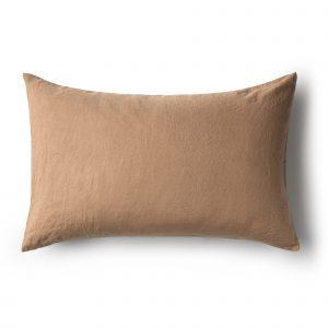 Minimrkt French Flax Linen Standard Pillowcase Chestnut