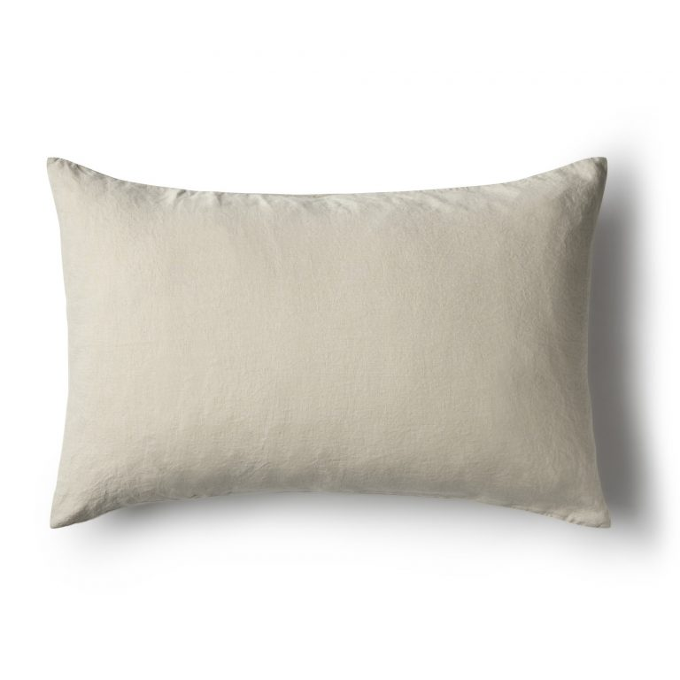 Minimrkt French Flax Linen Standard Pillowcase Dove