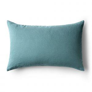 Minimrkt French Flax Linen Standard Pillowcase Dusty Blue