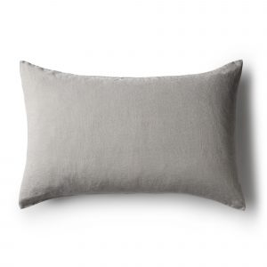 Minimrkt French Flax Linen Standard Pillowcase Grey