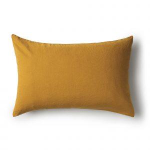 Minimrkt French Flax Linen Standard Pillowcase Ochre