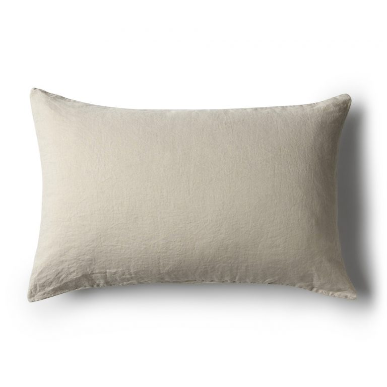 Minimrkt French Flax Linen Standard Pillowcase Smoke