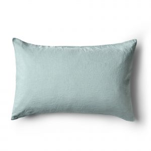 Minimrkt French Flax Linen Standard Pillowcase Sea Foam