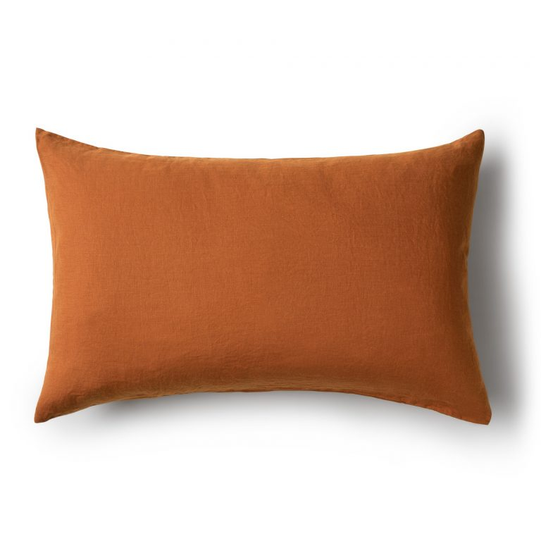 Minimrkt French Flax Linen Standard Pillowcase Toffee