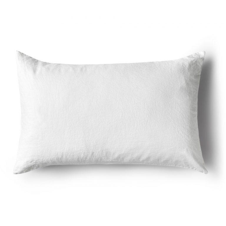 Minimrkt French Flax Linen Standard Pillowcase White