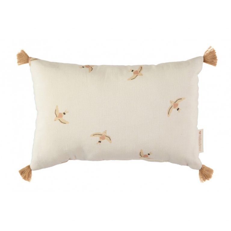 Nobodinoz Sublim Cushion Haiku Birds Natural