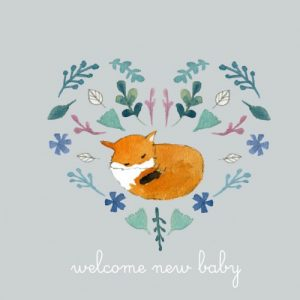 Jesses Mess Welcome New Baby Card