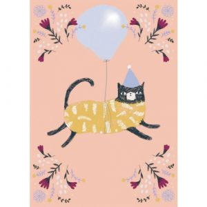 Jesses Mess Cat Birthday Card