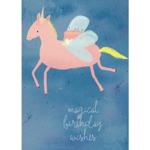Jesses Mess Magical Birthday Card Unicorn