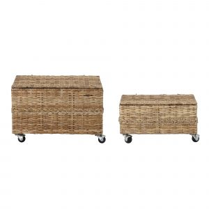 Bloomingville Mini Colin Basket w/Lid Rattan
