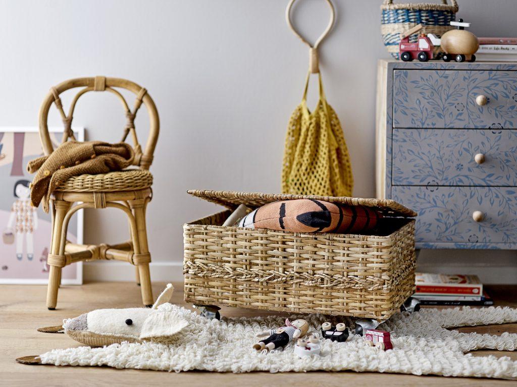 Bloomingville Mini Colin Basket w/Lid Rattan