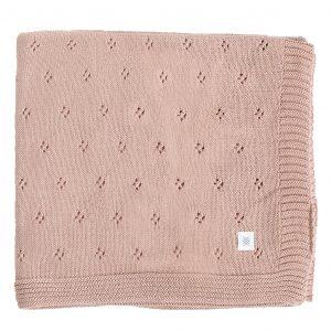 Zestt Organics Organic Cotton Clover Knit Baby Blanket Berry