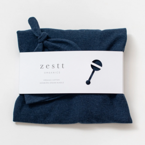 Zestt Organics Organic Cotton Newborn Dream Bundle Navy