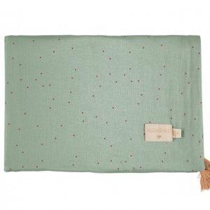 Nobodinoz Treasure Blanket Toffee Sweet Dots / Eden Green