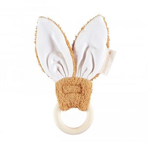 Nobodinoz Bunny Teether Ring Caramel