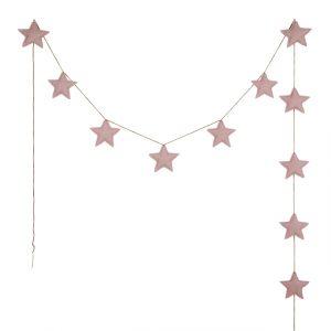 Numero 74 Mini Star Garland Dusty Pink