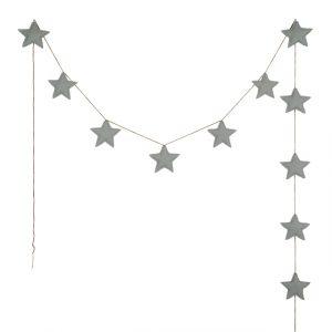 Numero 74 Mini Star Garland Silver Grey