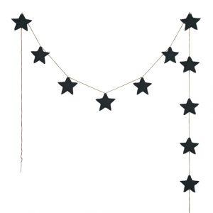 Numero 74 Mini Star Garland Dark Grey