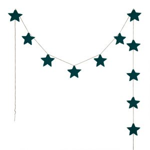 Numero 74 Mini Star Garland Teal