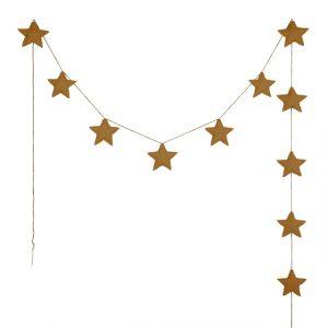 Numero 74 Mini Star Garland Gold