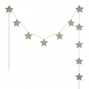 Numero 74 Mini Star Garland Sage Green